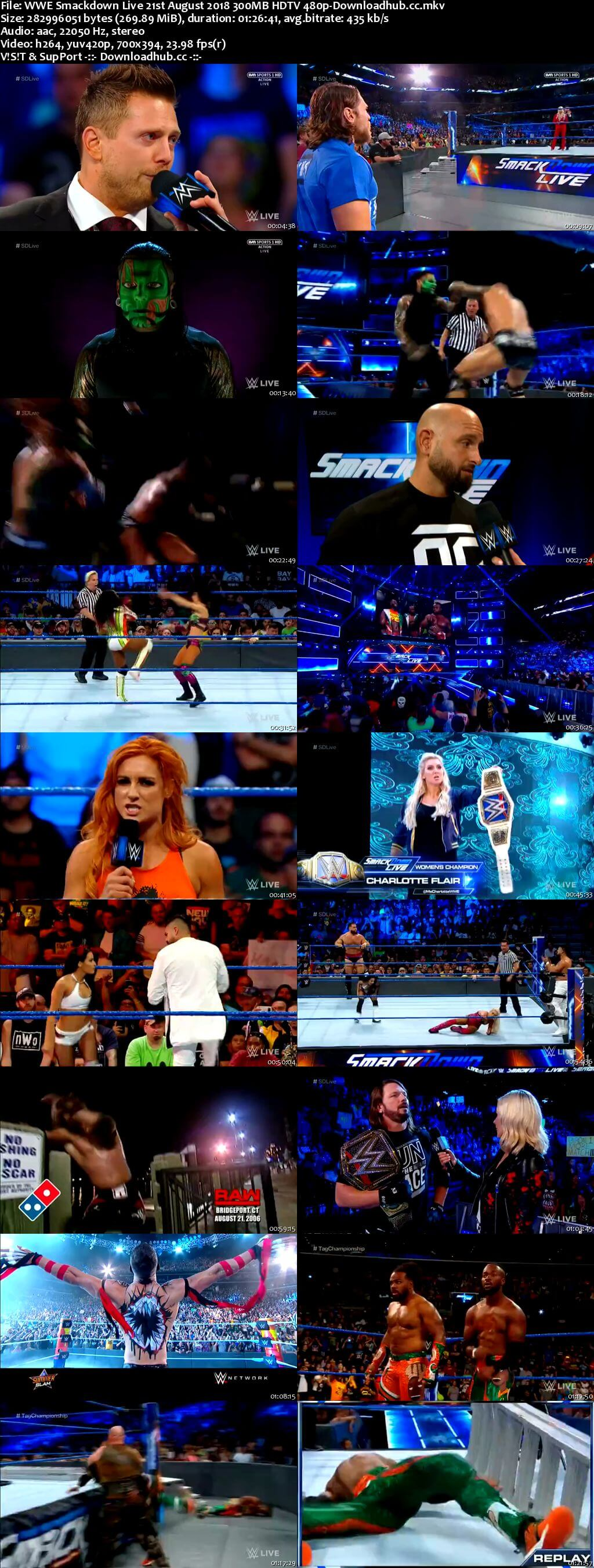 WWE Smackdown Live 21 August 2018 480p HDTV Download