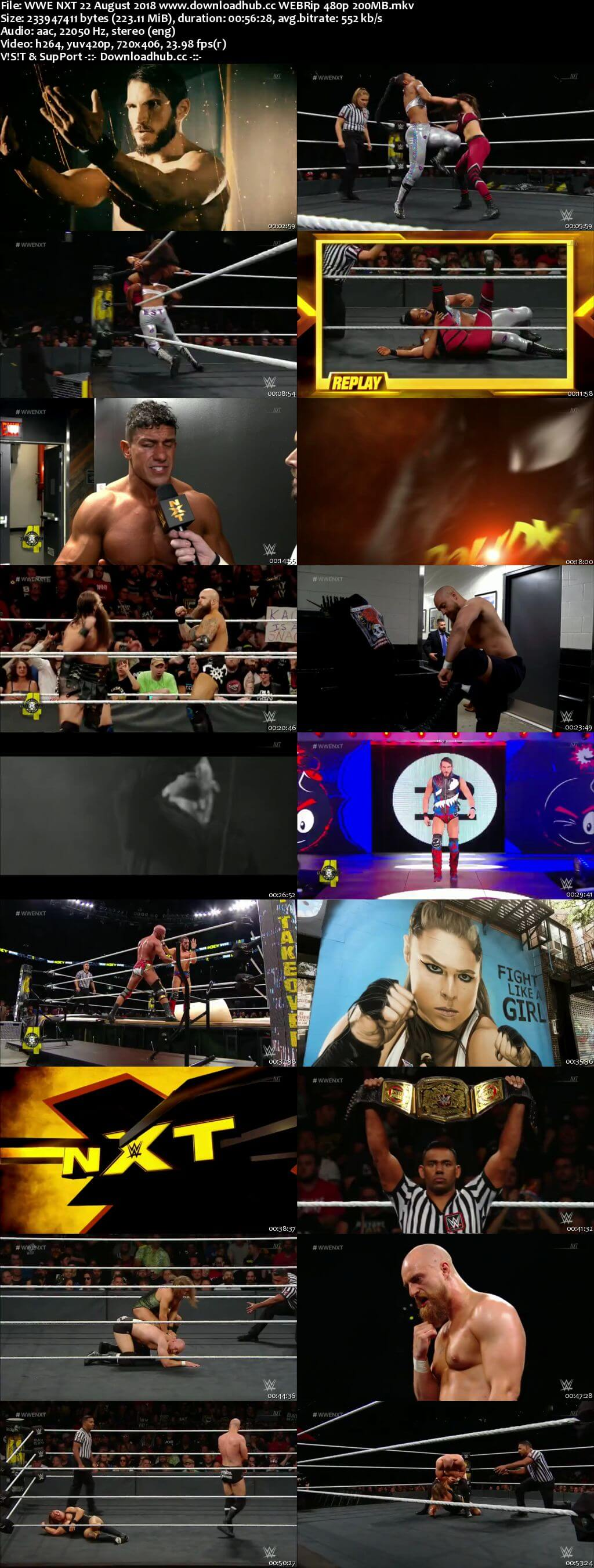 WWE NXT 22 August 2018 480p HDTV Download