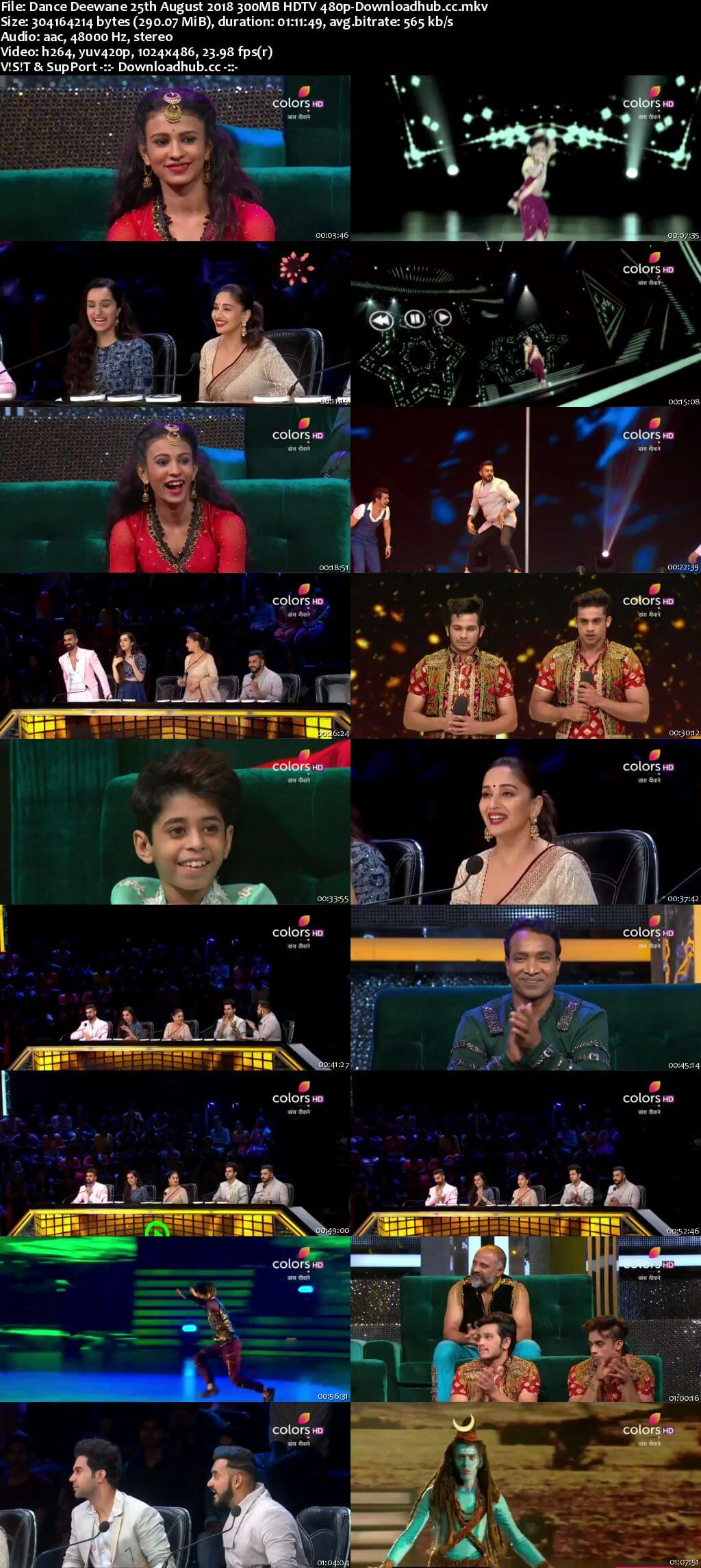 Dance Deewane 25 August 2018 Episode 24 HDTV 480p