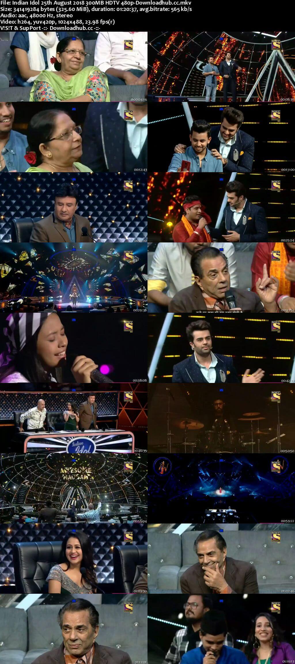 Indian Idol 25 August 2018 Episode 15 HDTV 480p