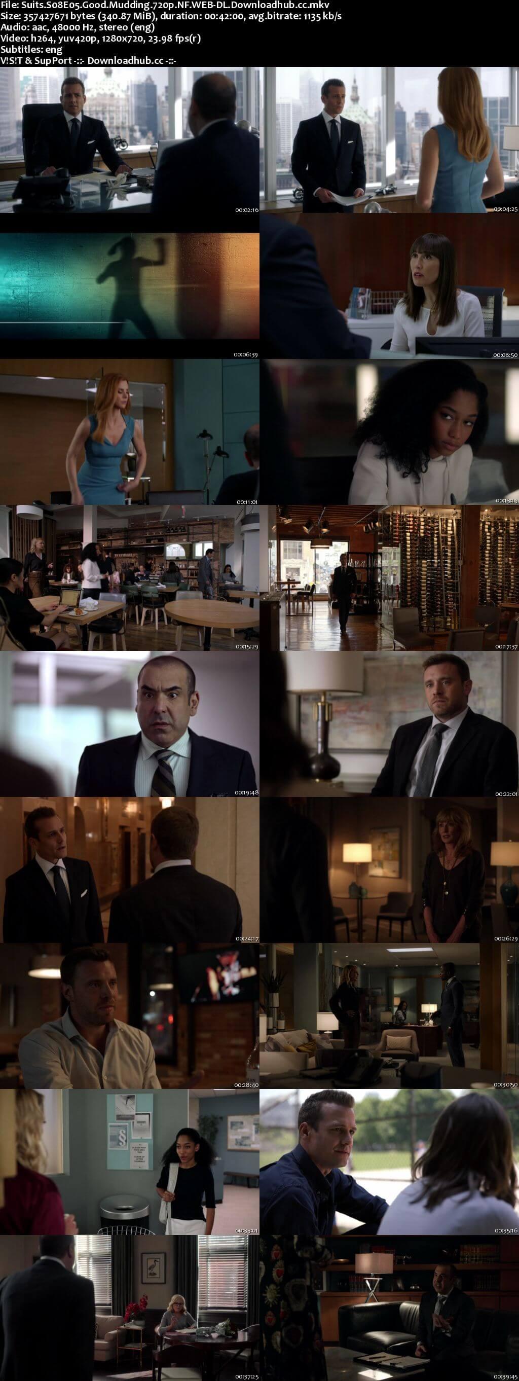 Suits S08E05 340MB Web-DL 720p x264 ESubs