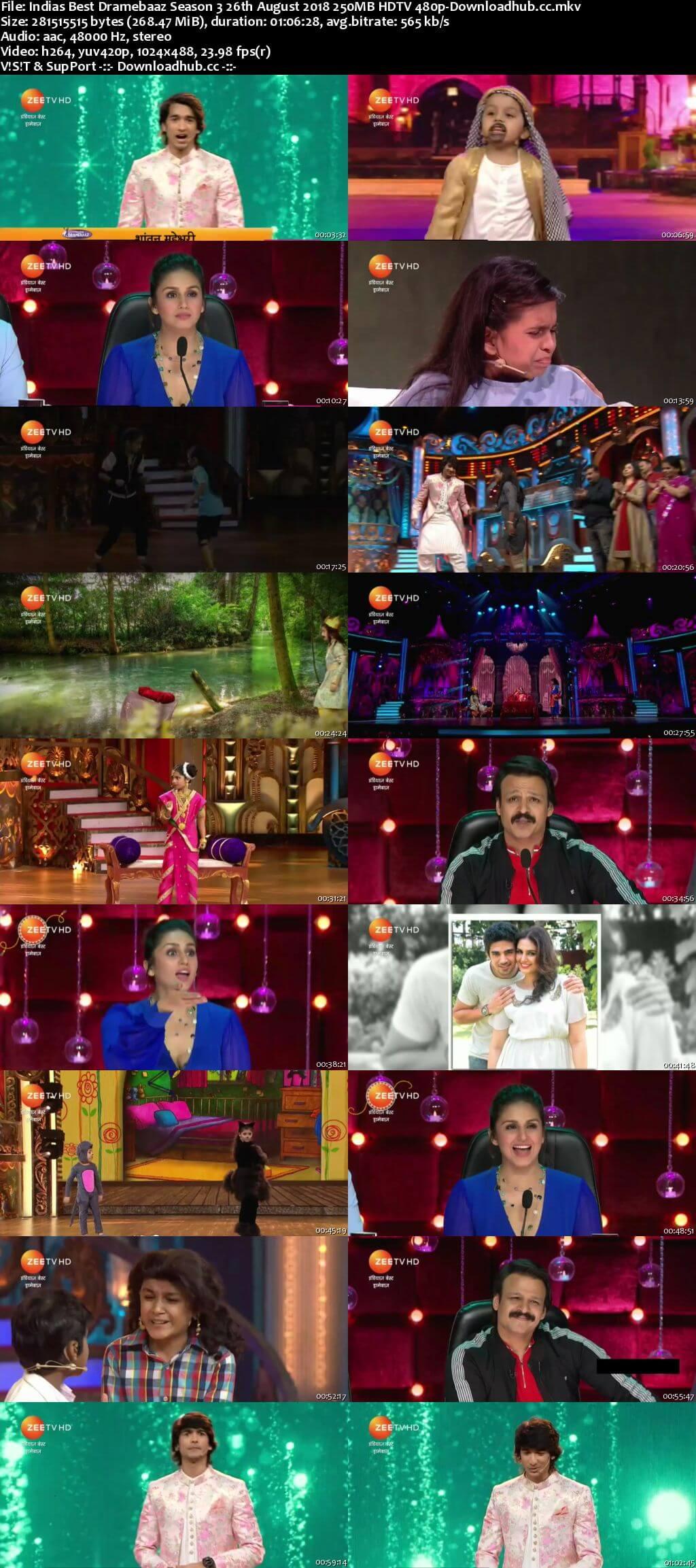 Indias Best Dramebaaz Season 3 26 August 2018 Episode 18 HDTV 480p