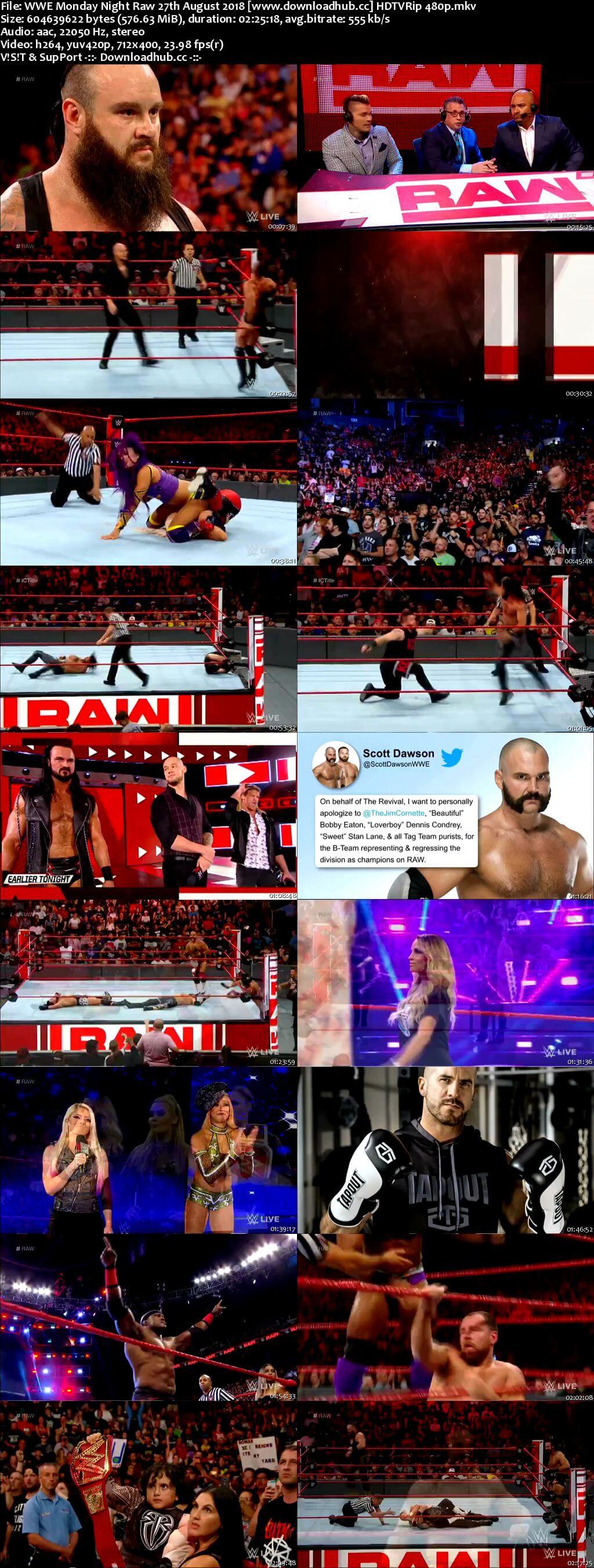 WWE Monday Night Raw 27 August 2018 480p HDTV Download