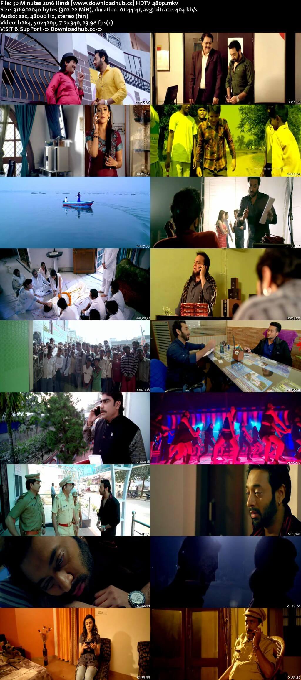 30 Minutes 2016 Hindi 300MB HDTV 480p