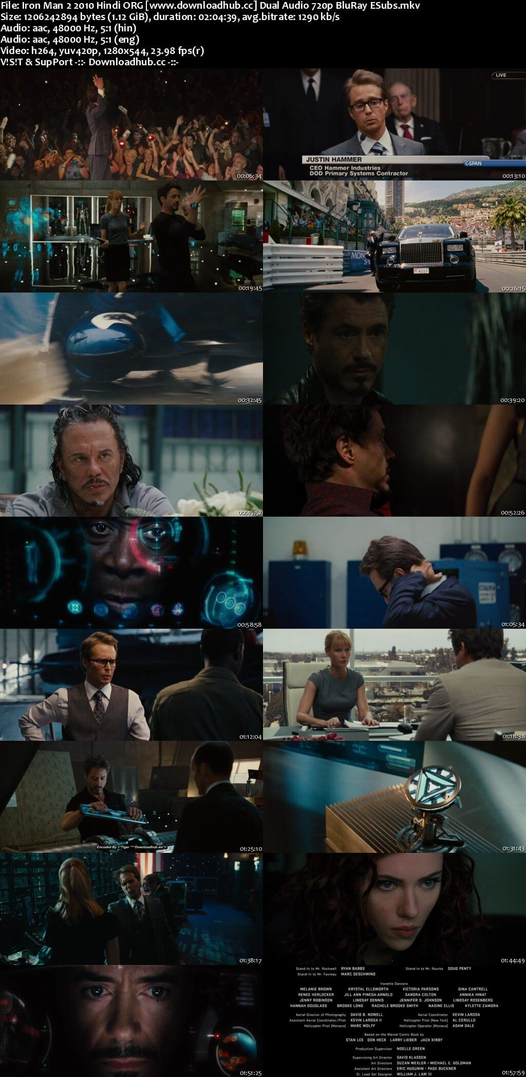 Iron Man 2 2010 Hindi ORG Dual Audio 720p BluRay ESubs