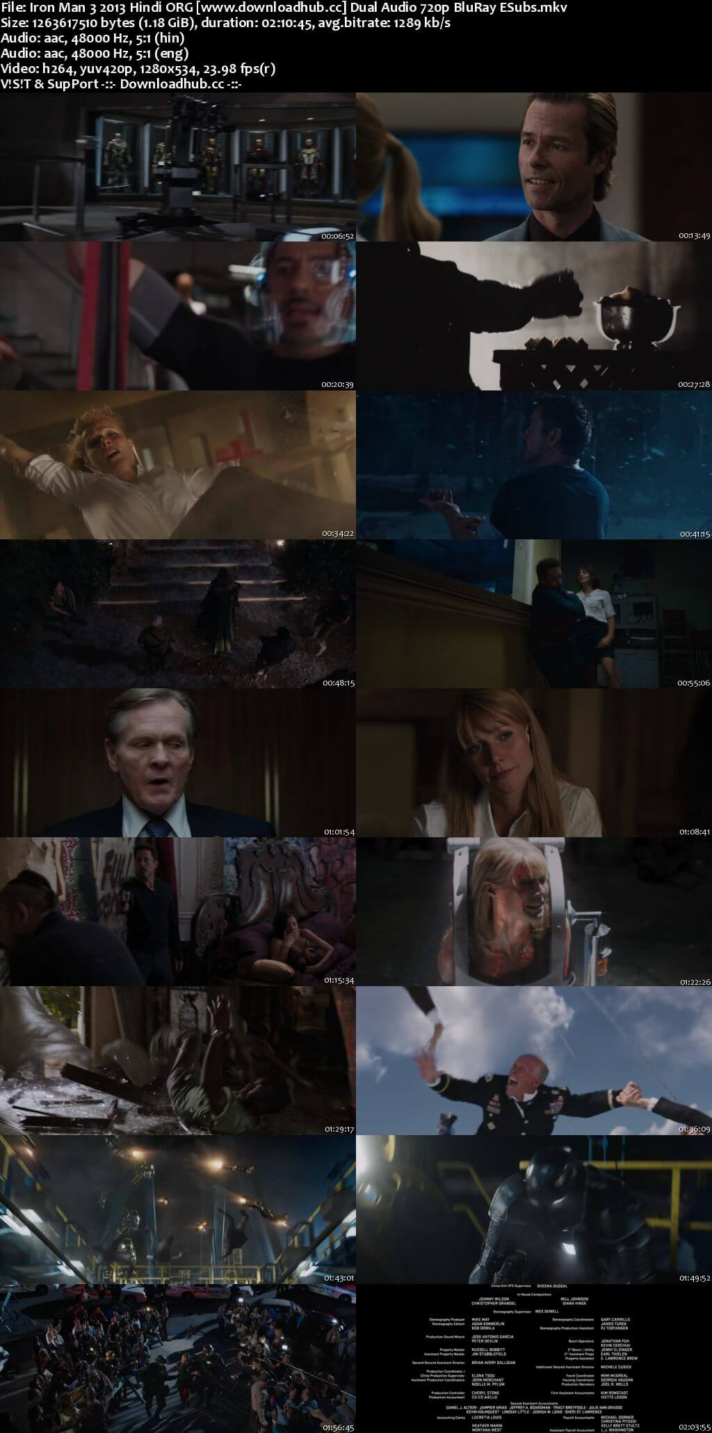 Iron Man 3 2013 Hindi ORG Dual Audio 720p BluRay ESubs