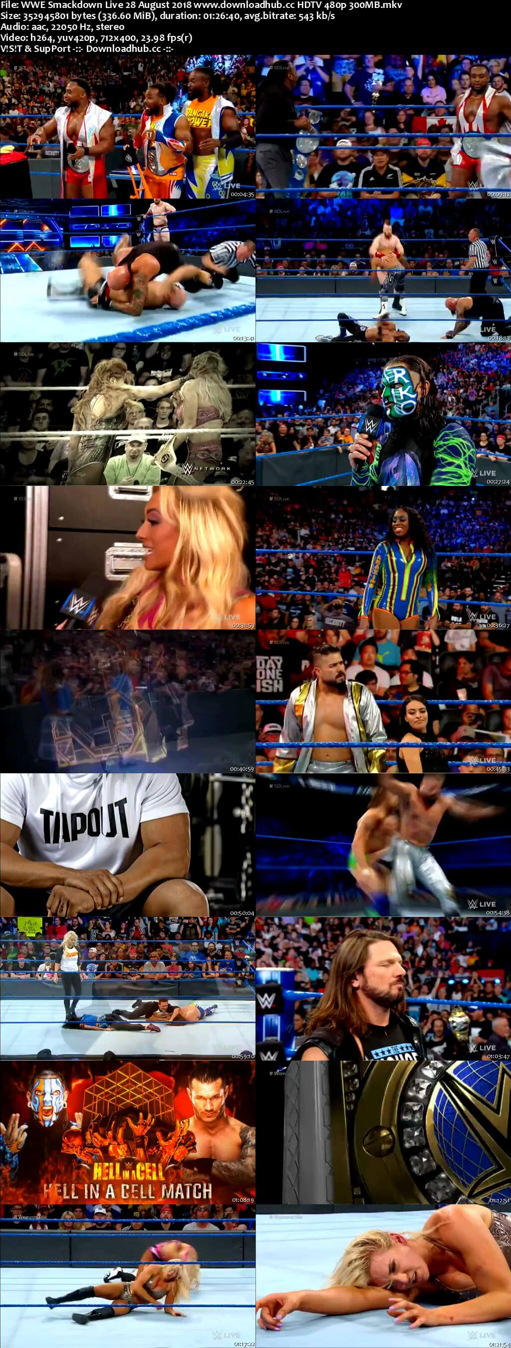 WWE Smackdown Live 28 August 2018 480p HDTV Download