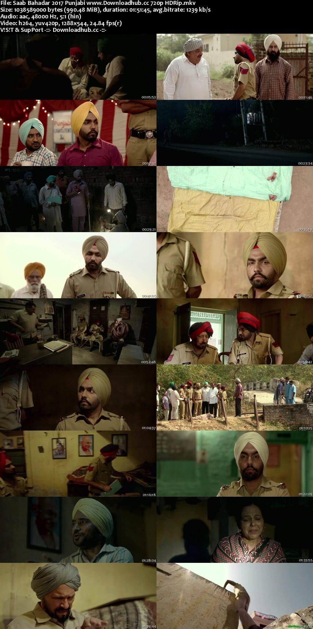 Saab Bahadar 2017 Punjabi 720p HDRip