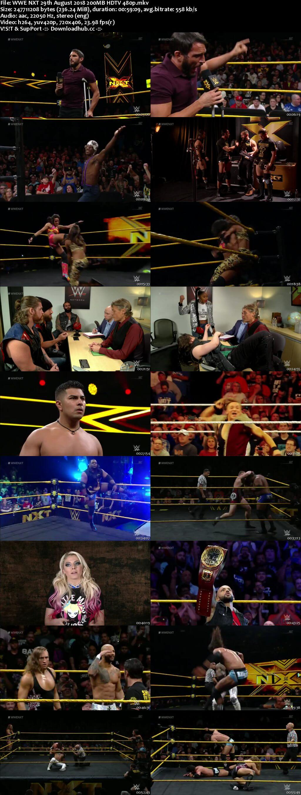 WWE NXT 29 August 2018 480p HDTV Download