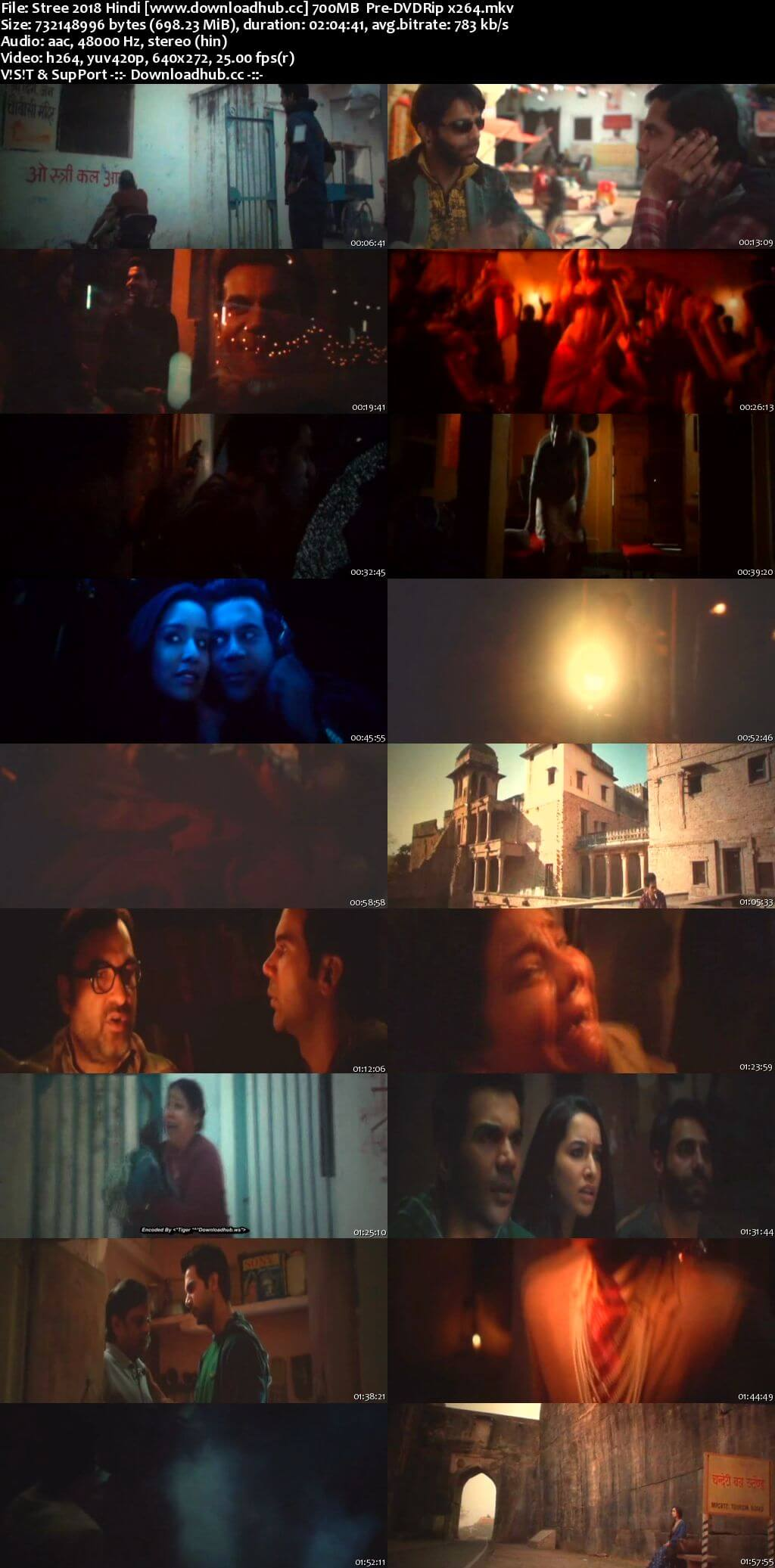 Stree 2018 Hindi 700MB Pre-DVDRip x264