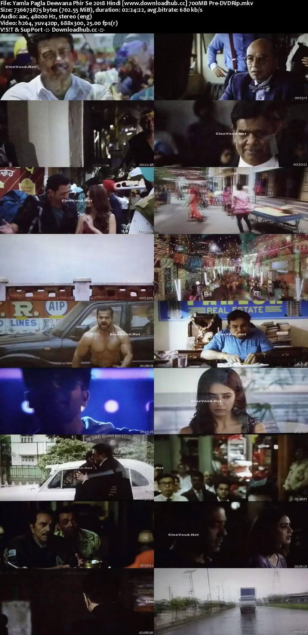 Yamla Pagla Deewana Phir Se 2018 Hindi 700MB Pre-DVDRip x264