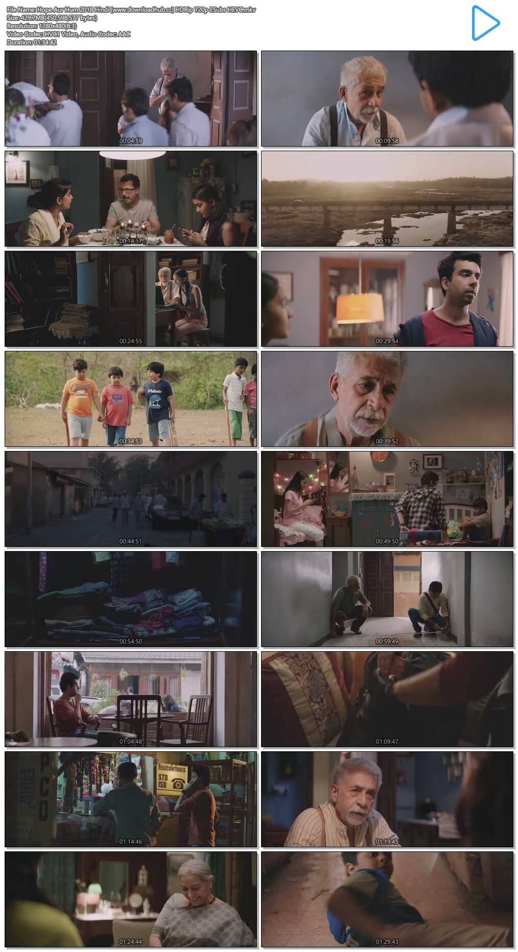 Hope Aur Hum 2018 Hindi 400MB HDRip 720p ESubs HEVC