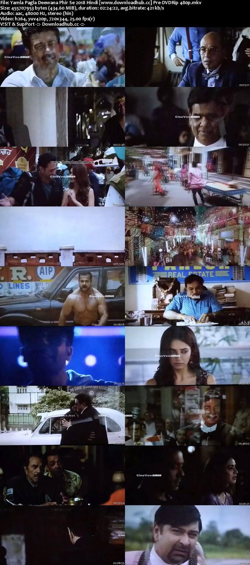 Yamla Pagla Deewana Phir Se 2018 Hindi 400MB Pre-DVDRip 480p