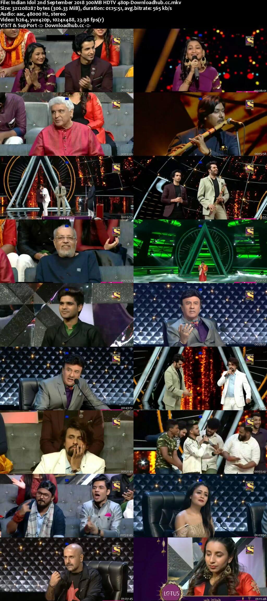 Indian Idol 02 September 2018 Episode 18 HDTV 480p