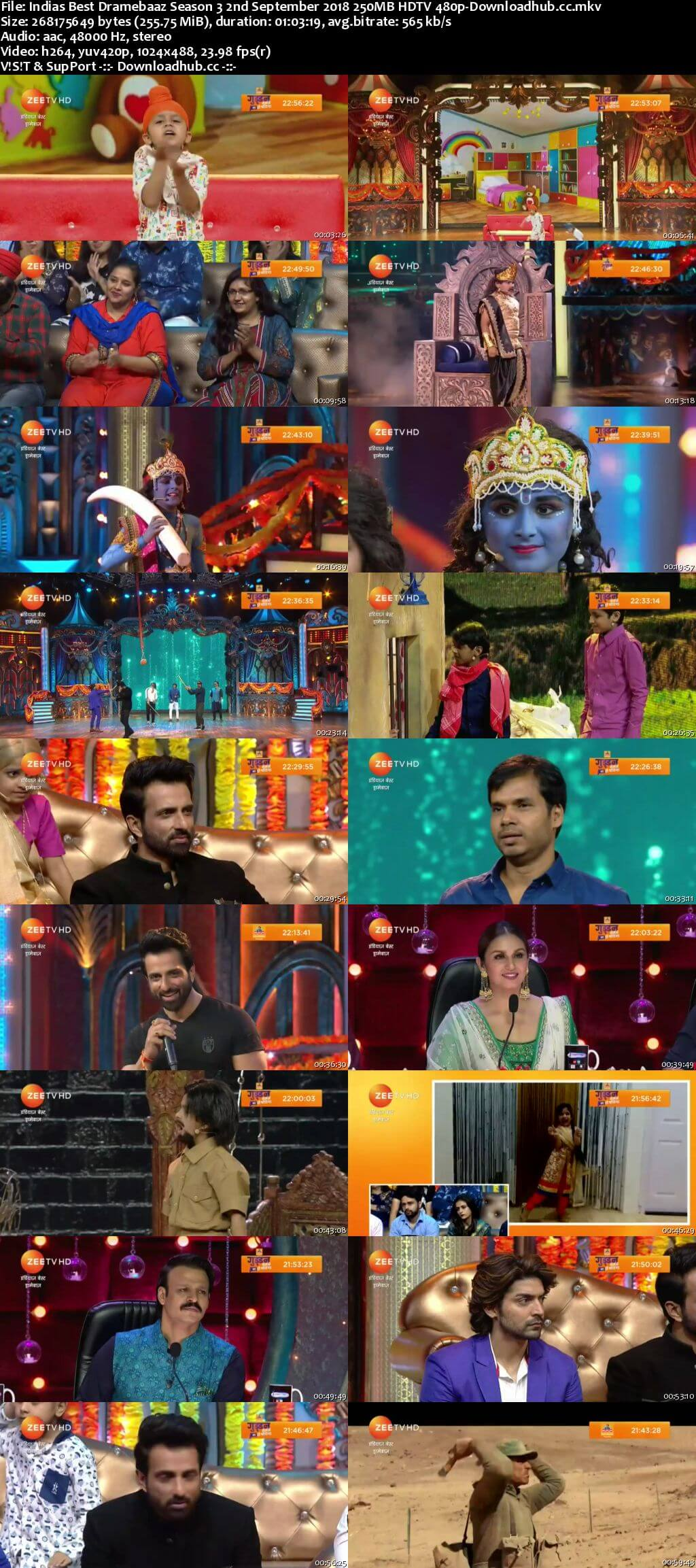 Indias Best Dramebaaz Season 3 02 September 2018 Episode 20 HDTV 480p