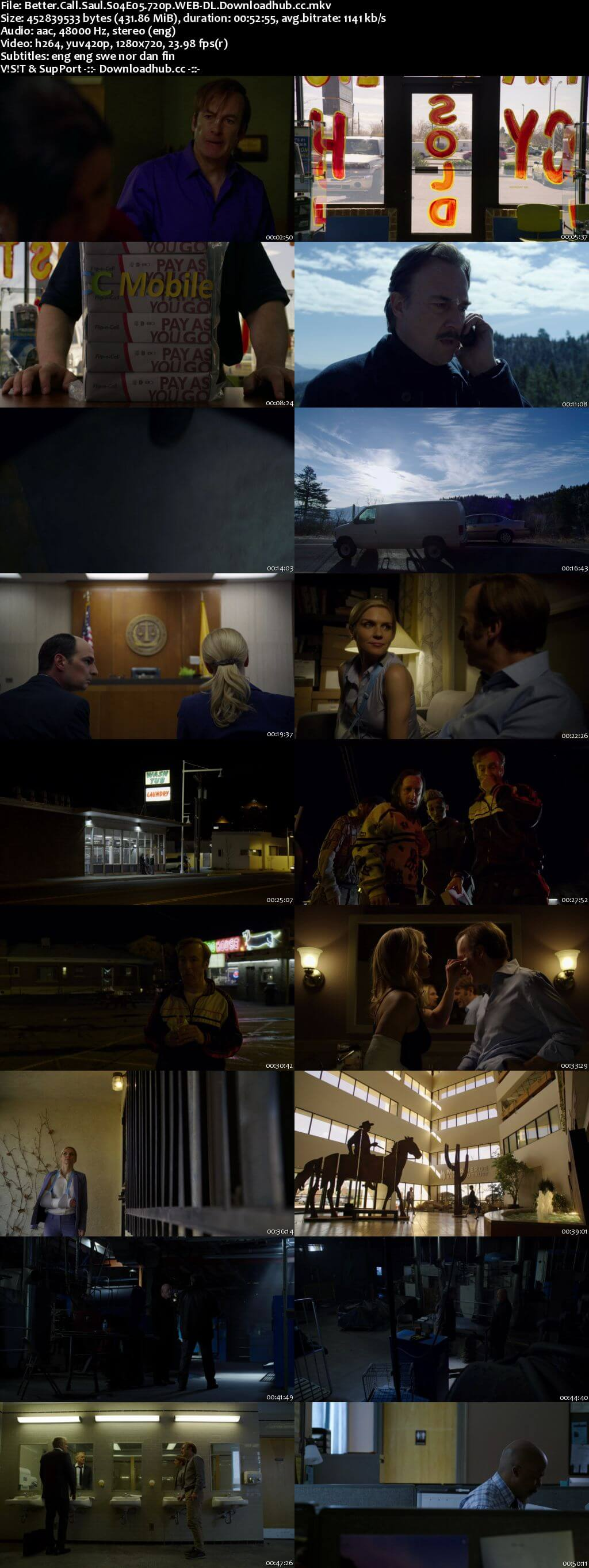 Better Call Saul S04E05 400MB WEB-DL 720p x264 MSubs