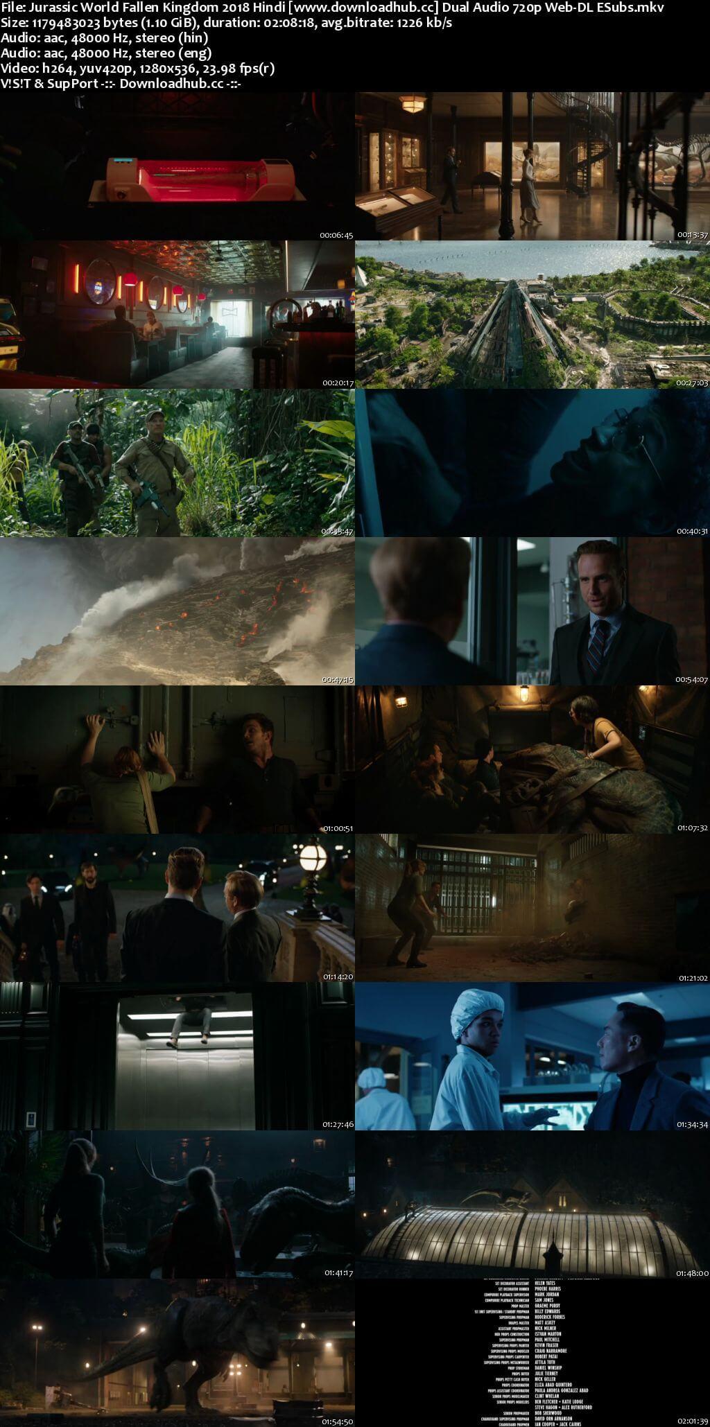 Jurassic World Fallen Kingdom 2018 Hindi Dual Audio 720p Web-DL ESubs