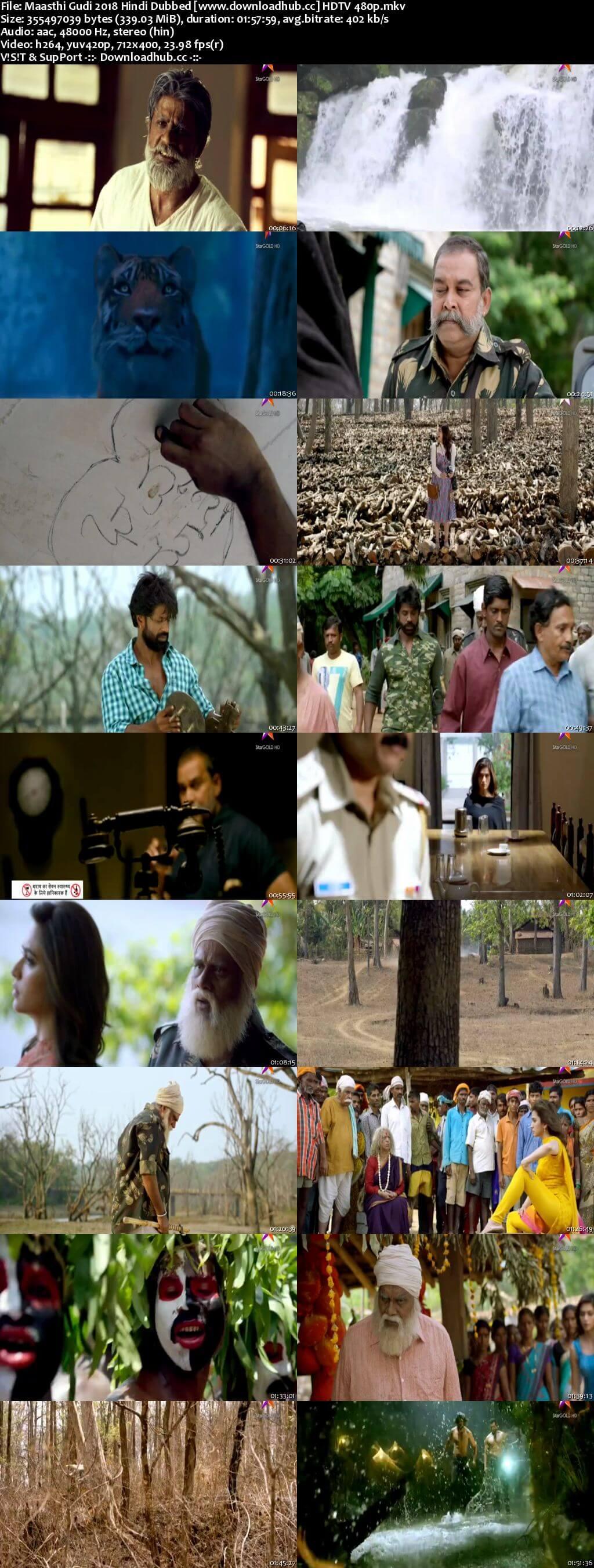 Maasthi Gudi 2018 Hindi Dubbed 300MB HDTV 480p