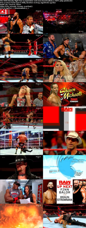 WWE Monday Night Raw 03 September 2018 480p HDTV Download