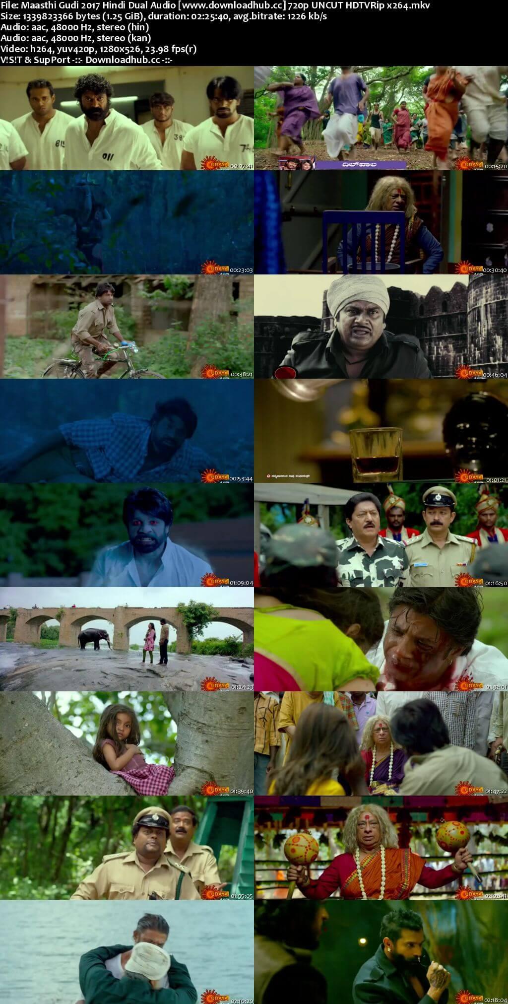 Maasthi Gudi 2017 Hindi Dual Audio 720p UNCUT HDTVRip x264