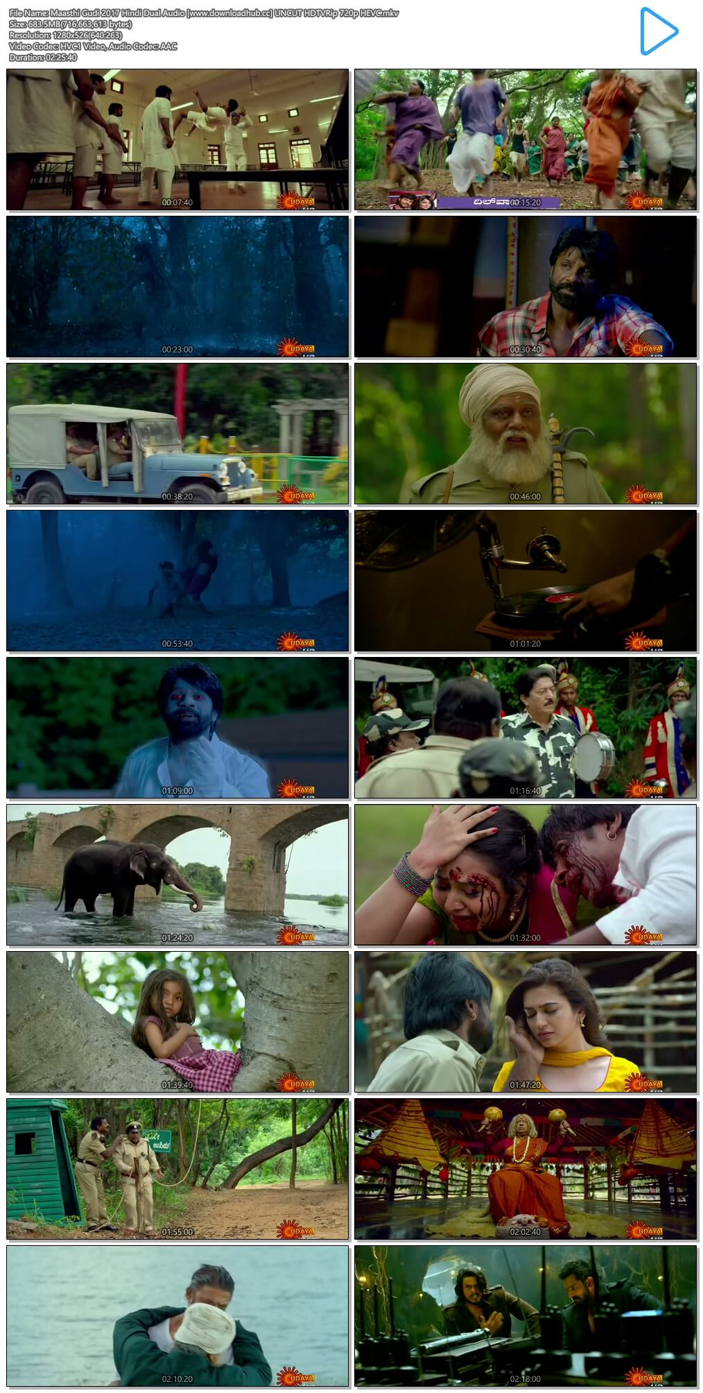 Maasthi Gudi 2017 Hindi Dual Audio 650MB UNCUT HDTVRip 720p HEVC