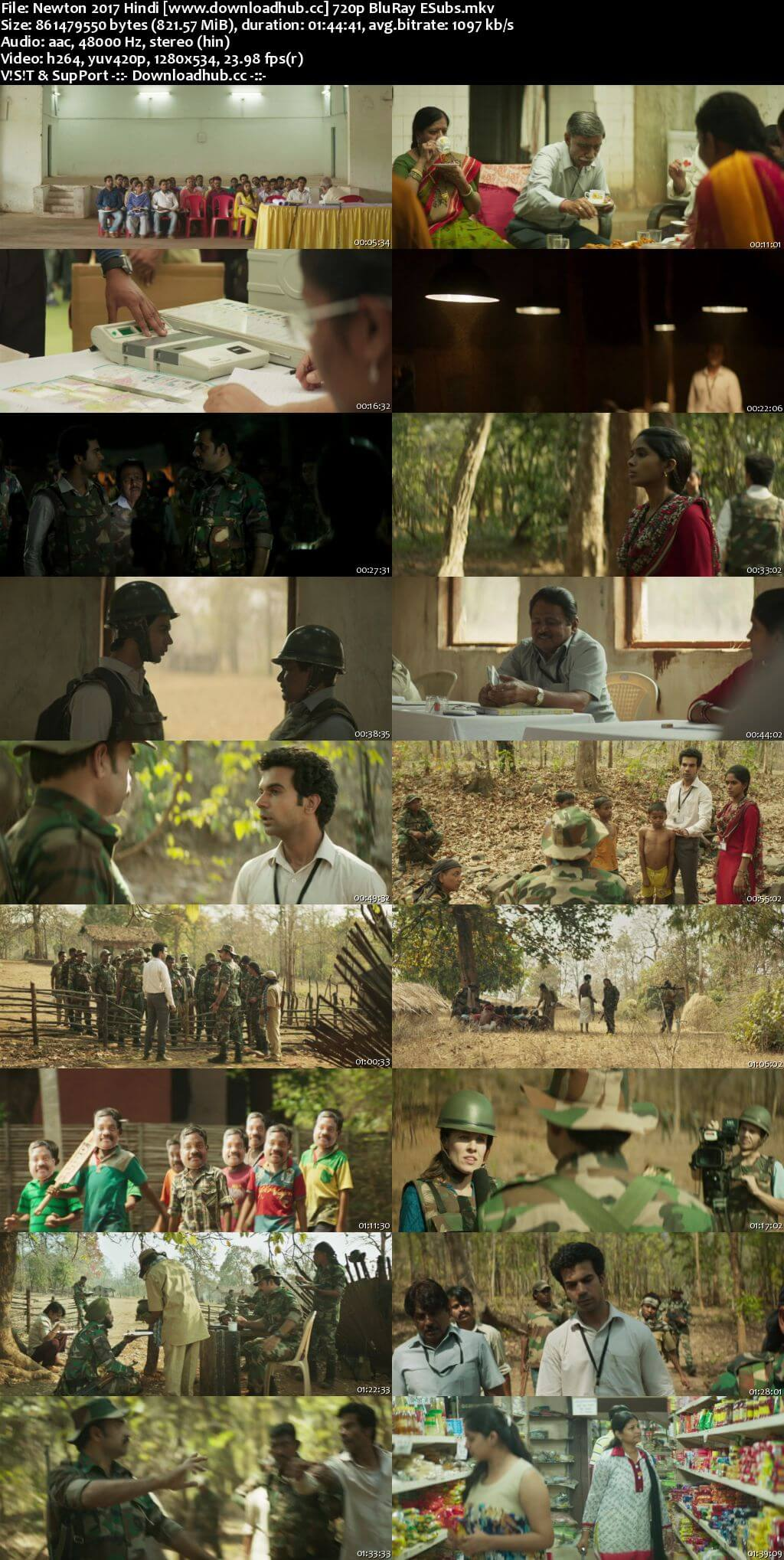 Newton 2017 Hindi 720p BluRay ESubs