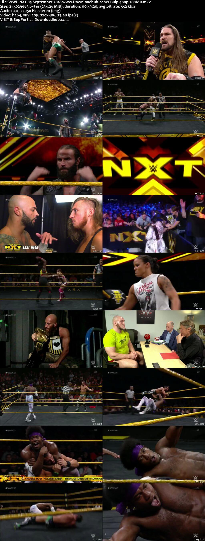 WWE NXT 05 September 2018 480p HDTV Download