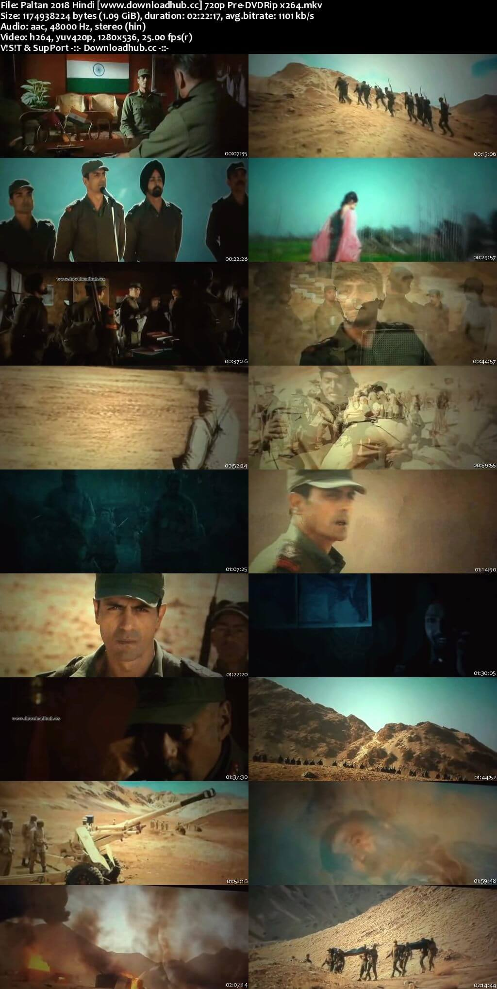 Paltan 2018 Hindi 720p Pre-DVDRip x264