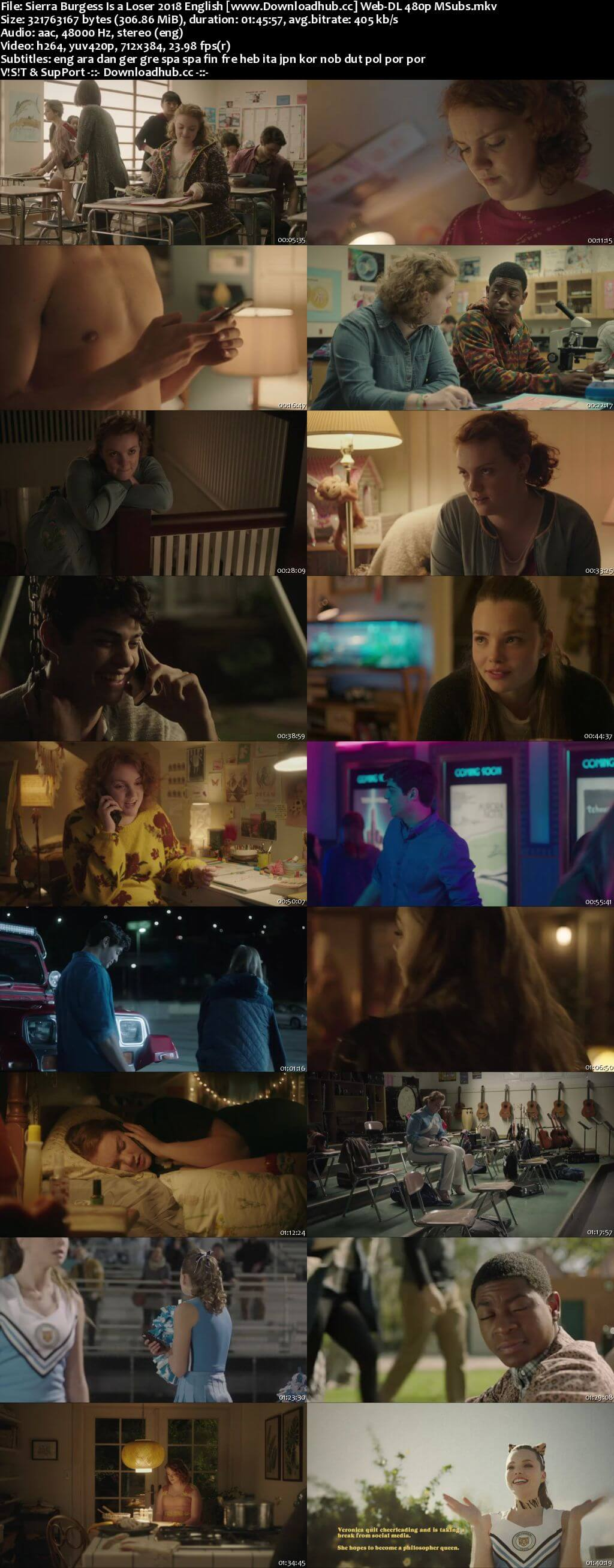 Sierra Burgess Is a Loser 2018 English 300MB Web-DL 480p MSubs