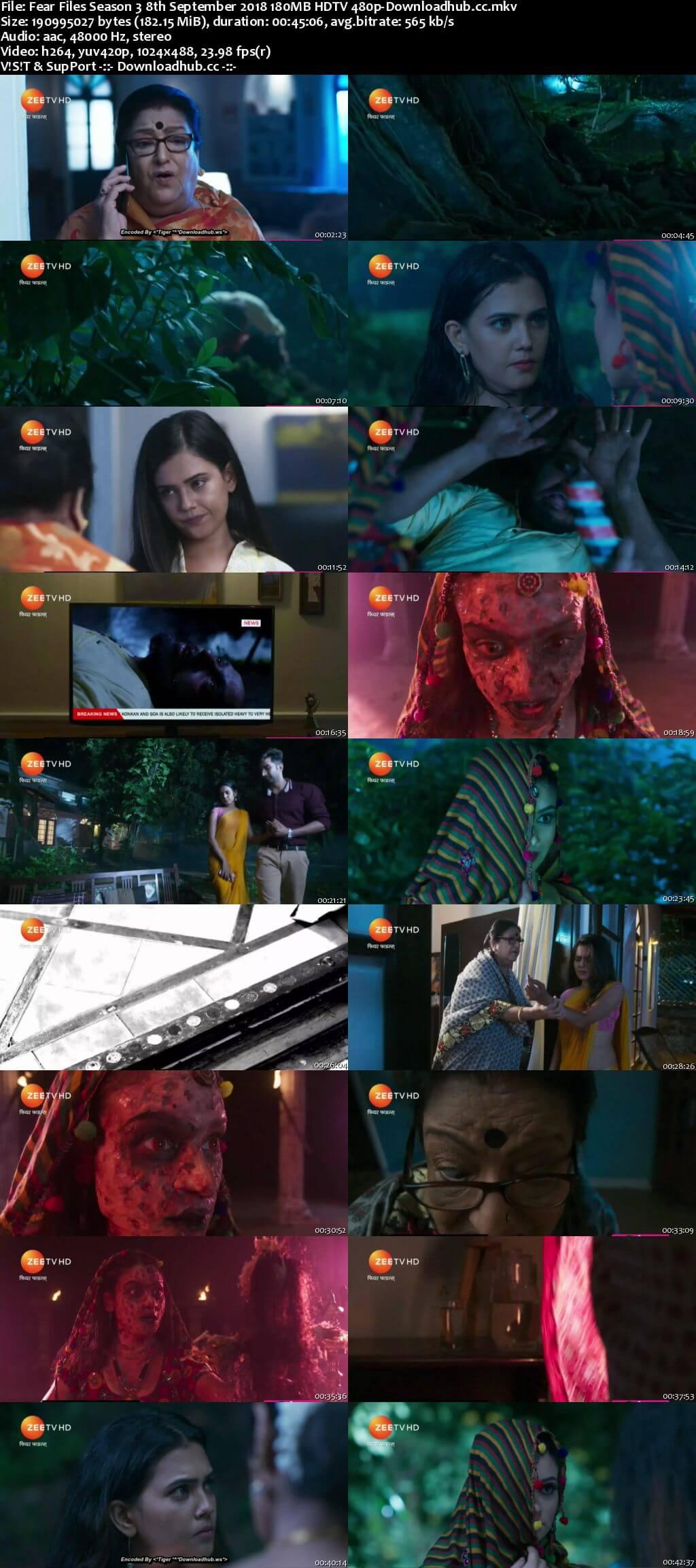 Fear Files Season 3 8th September 2018 180MB HDTV 480p