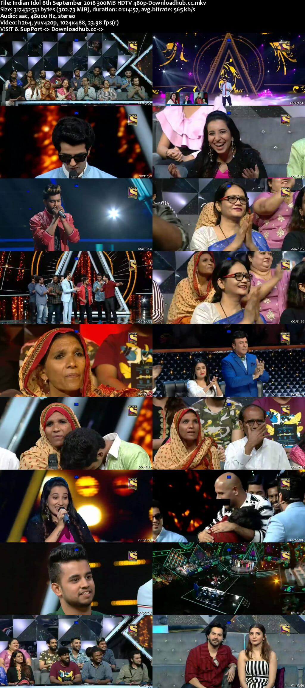 Indian Idol 08 September 2018 Episode 19 HDTV 480p