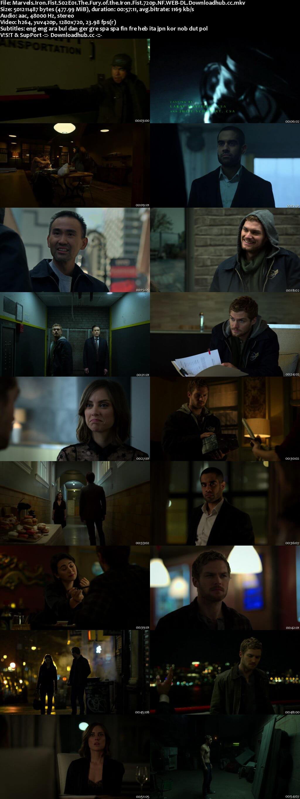 Marvels Iron Fist S02 Complete 720p NF Web-DL MSubs