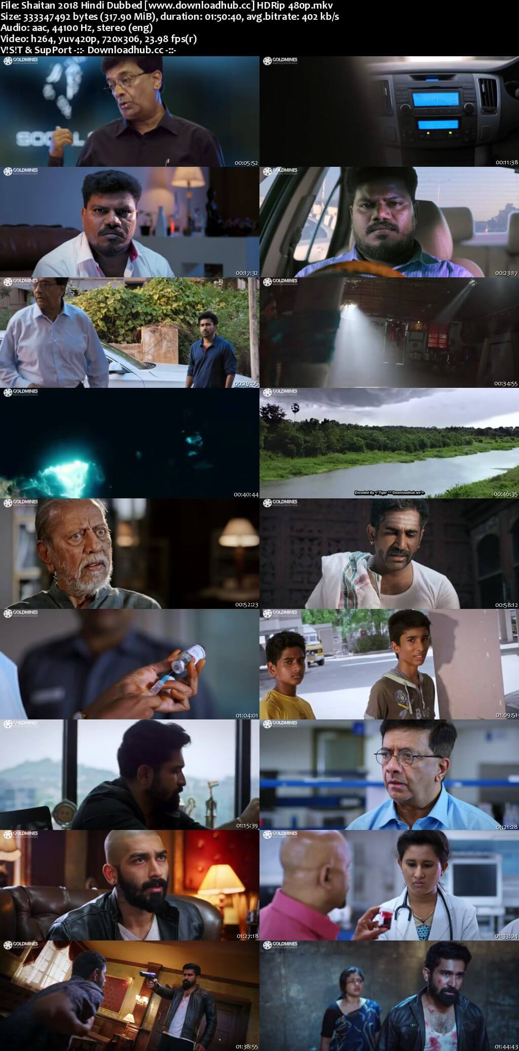 Shaitan 2018 Hindi Dubbed 300MB HDRip 480p