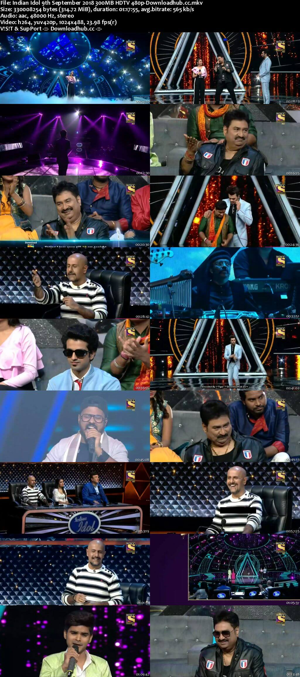 Indian Idol 09 September 2018 Episode 20 HDTV 480p