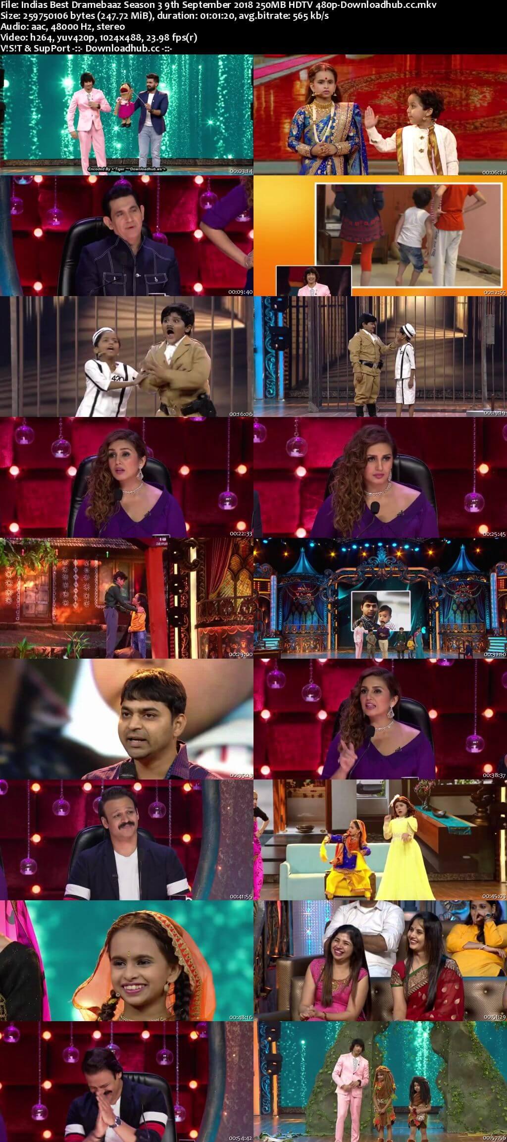 Indias Best Dramebaaz Season 3 09 September 2018 Episode 22 HDTV 480p