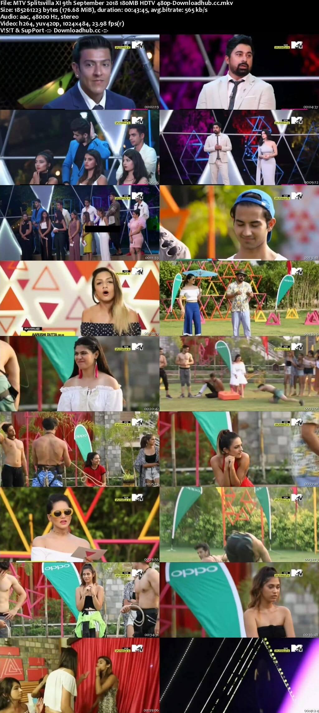 MTV Splitsvilla XI 9th September 2018 180MB HDTV 480p