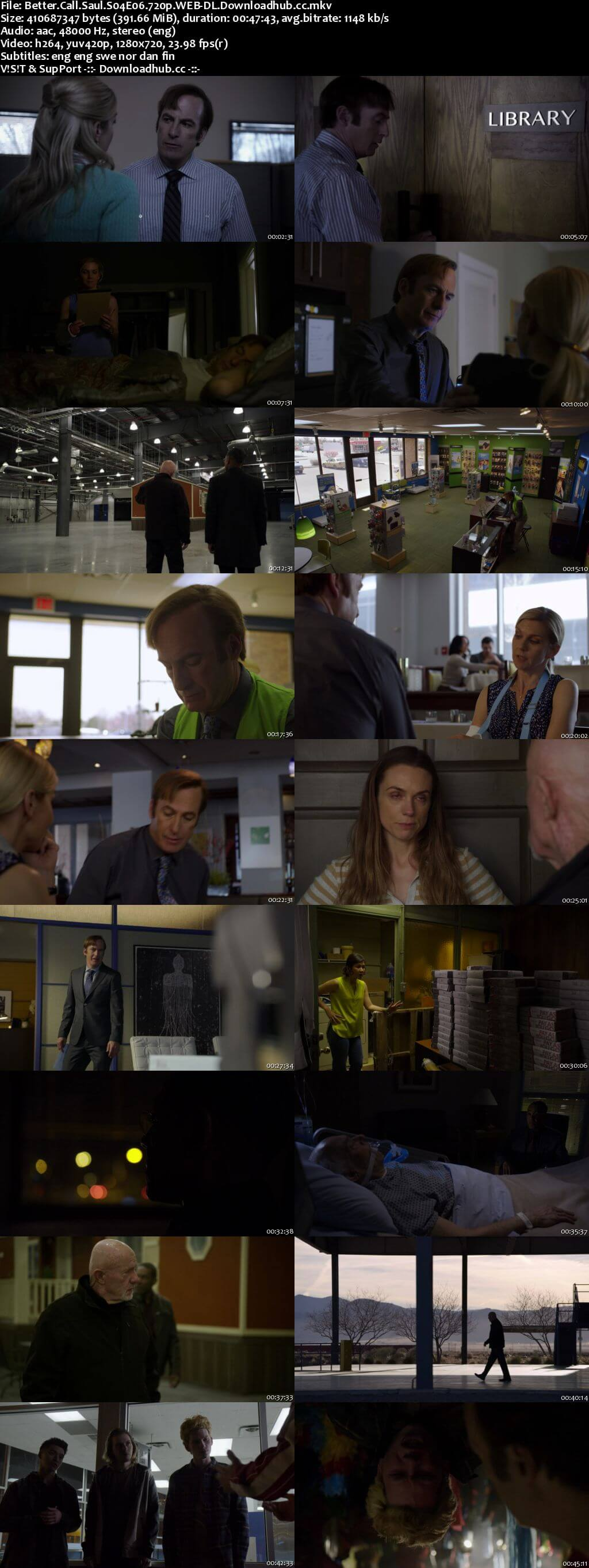 Better Call Saul S04E06 400MB WEB-DL 720p x264 MSubs