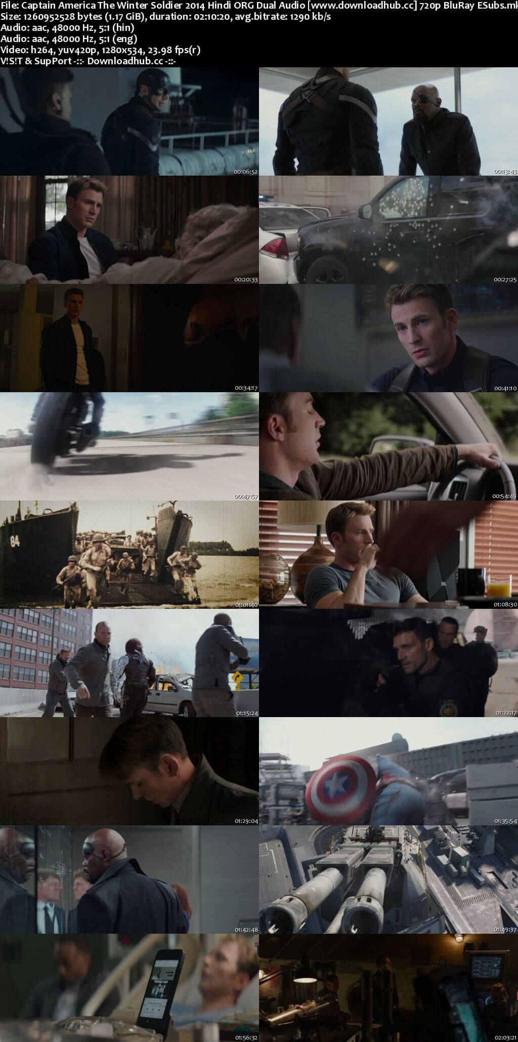 Captain America The Winter Soldier 2014 Hindi ORG Dual Audio 720p BluRay ESubs