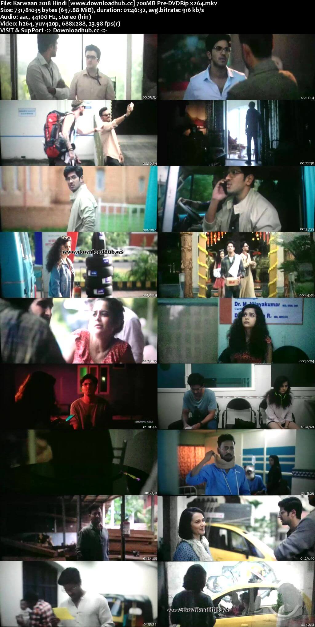 Karwaan 2018 Hindi 700MB Pre-DVDRip x264