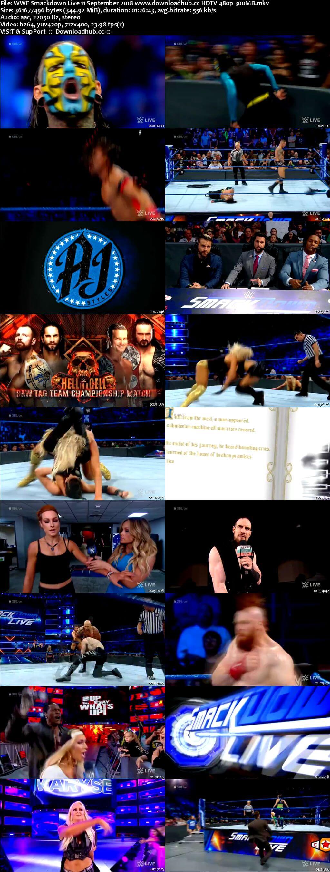 WWE Smackdown Live 11 September 2018 480p HDTV Download