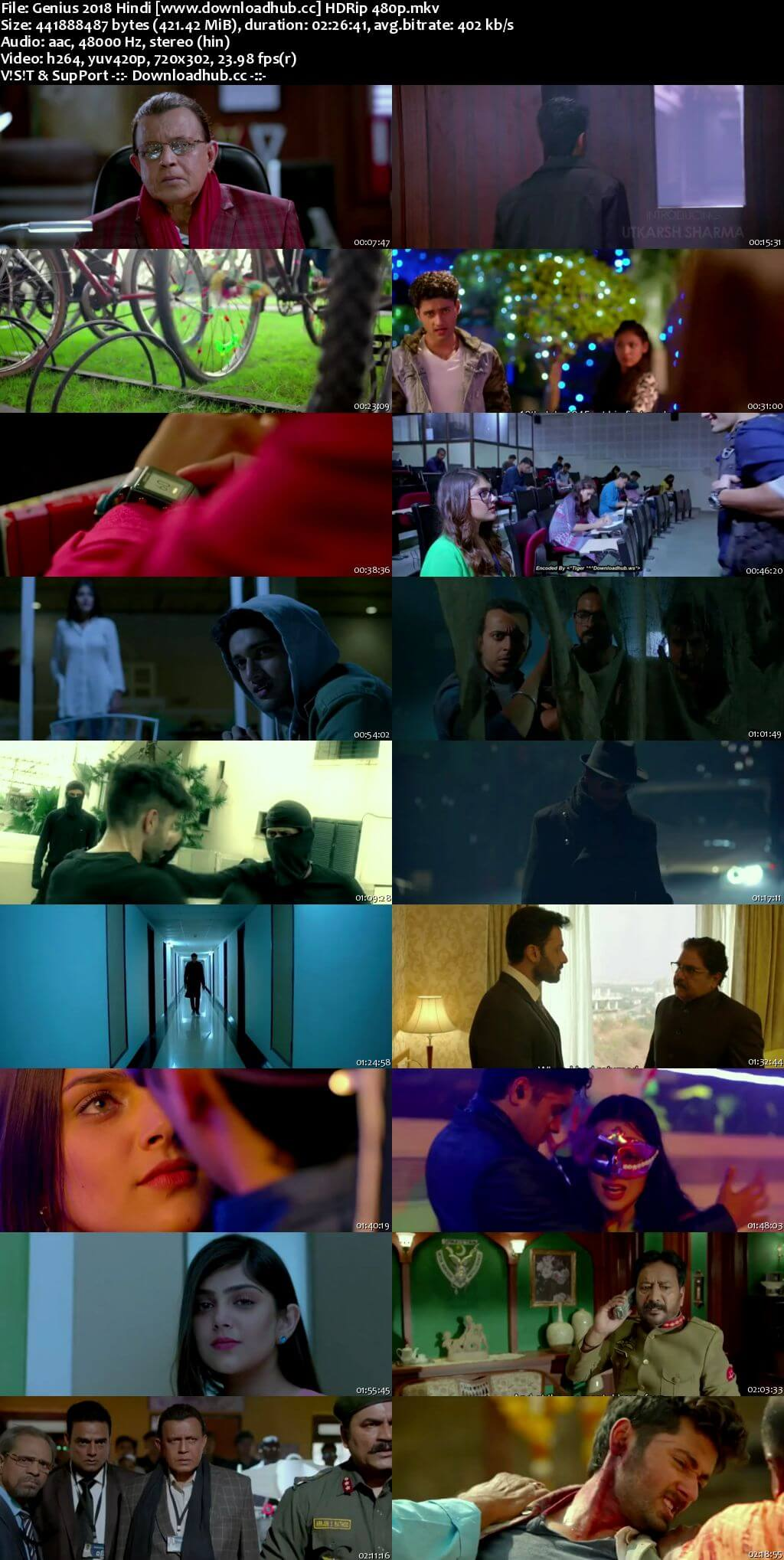 Genius 2018 Hindi 400MB HDRip 480p