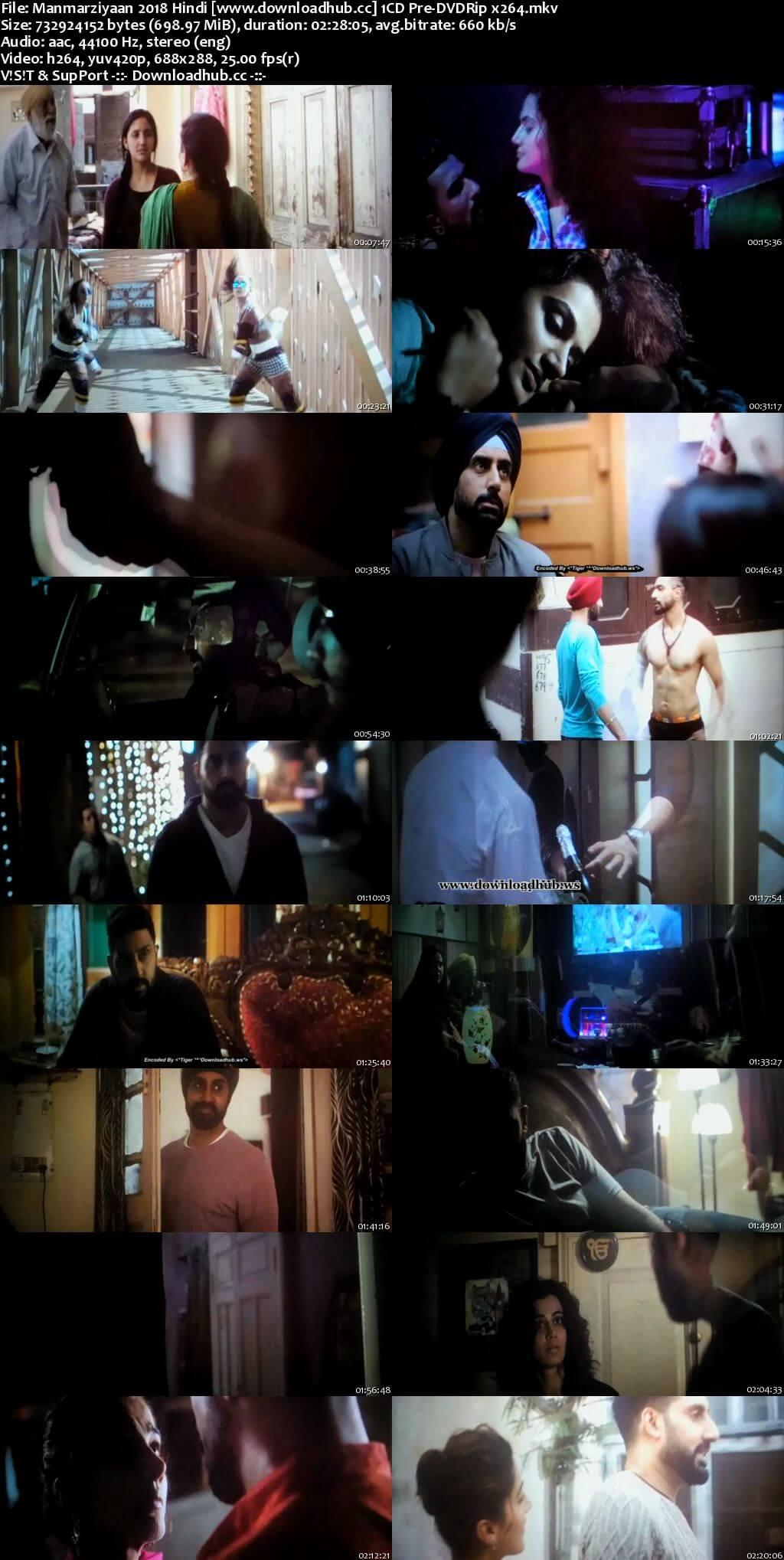 Manmarziyaan 2018 Hindi 700MB Pre-DVDRip x264