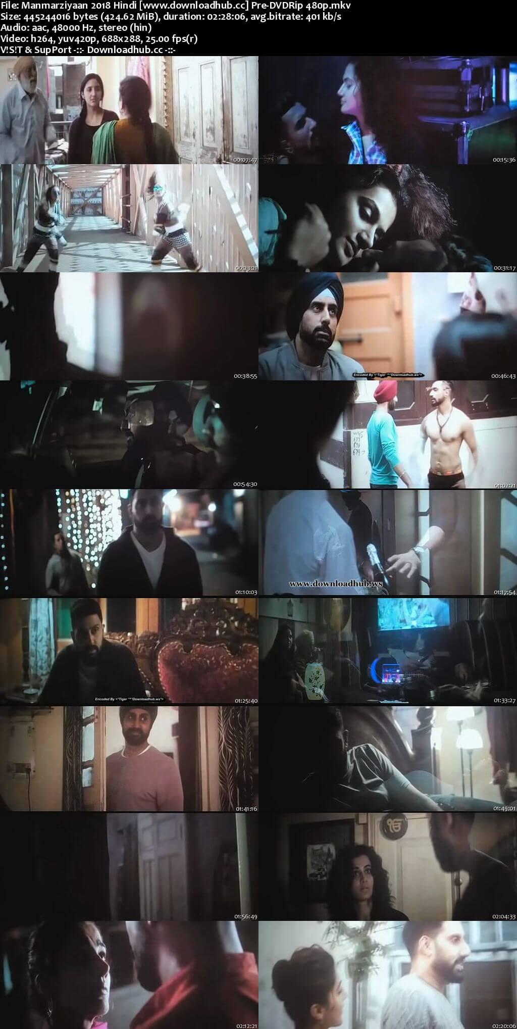 Manmarziyaan 2018 Hindi 400MB Pre-DVDRip 480p