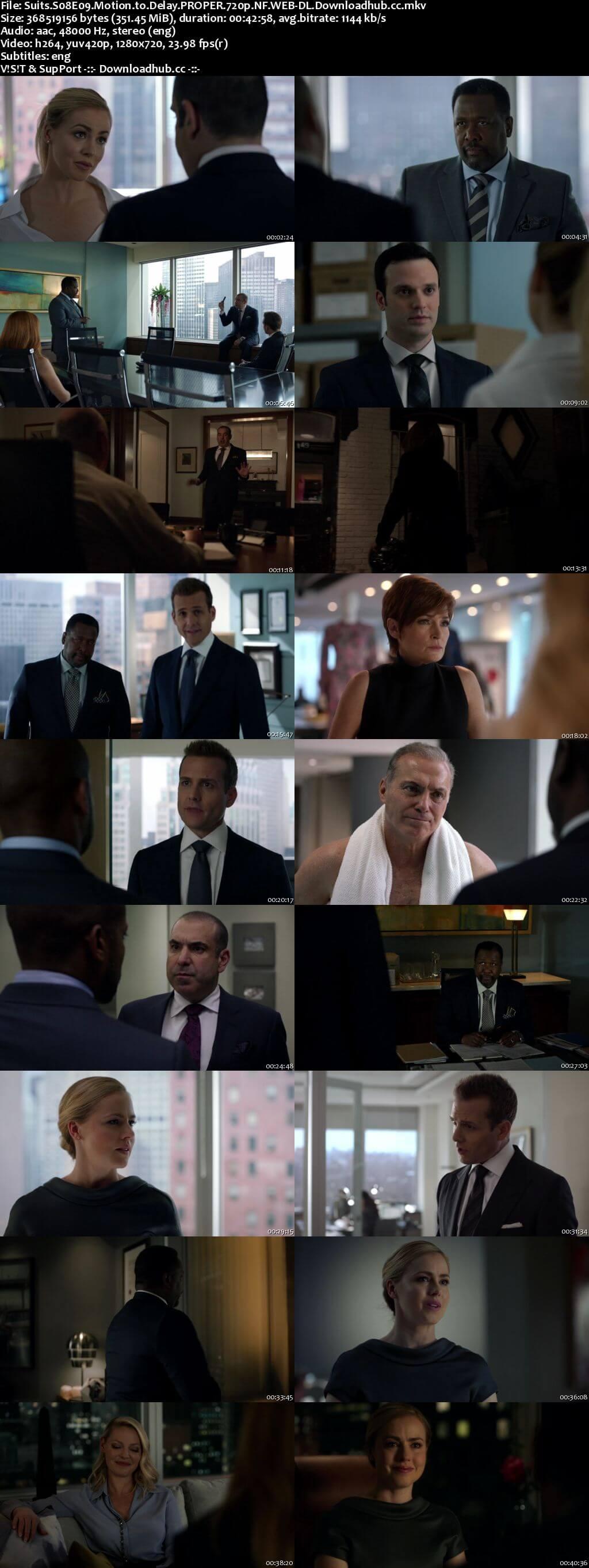 Suits S08E09 350MB Web-DL 720p x264 ESubs