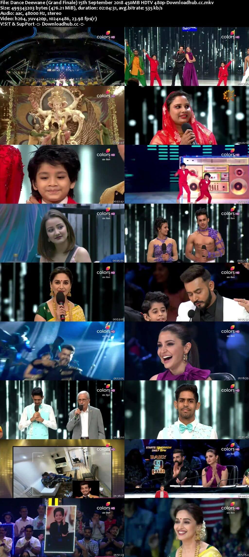 Dance Deewane (Grand Finale) 15th September 2018 450MB HDTV 480p