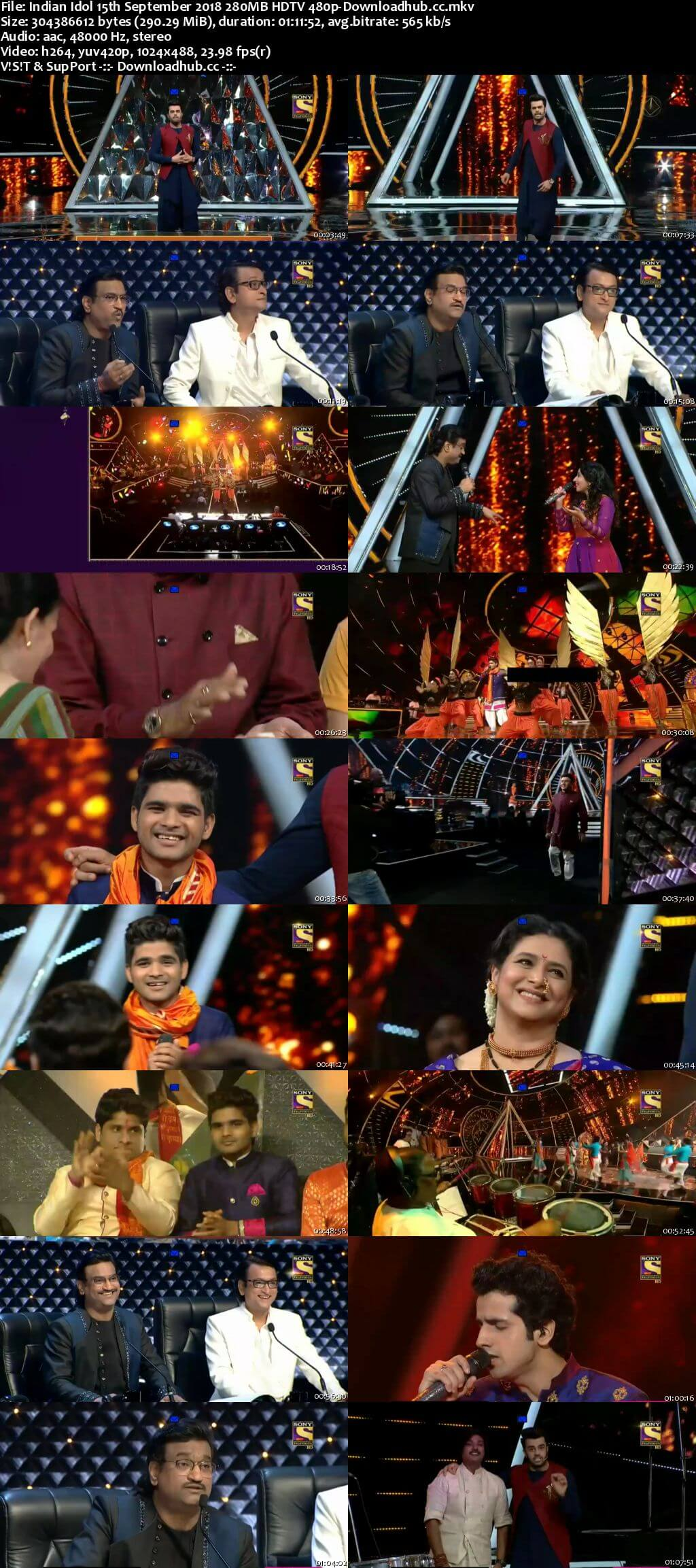 Indian Idol 15 September 2018 Episode 21 HDTV 480p