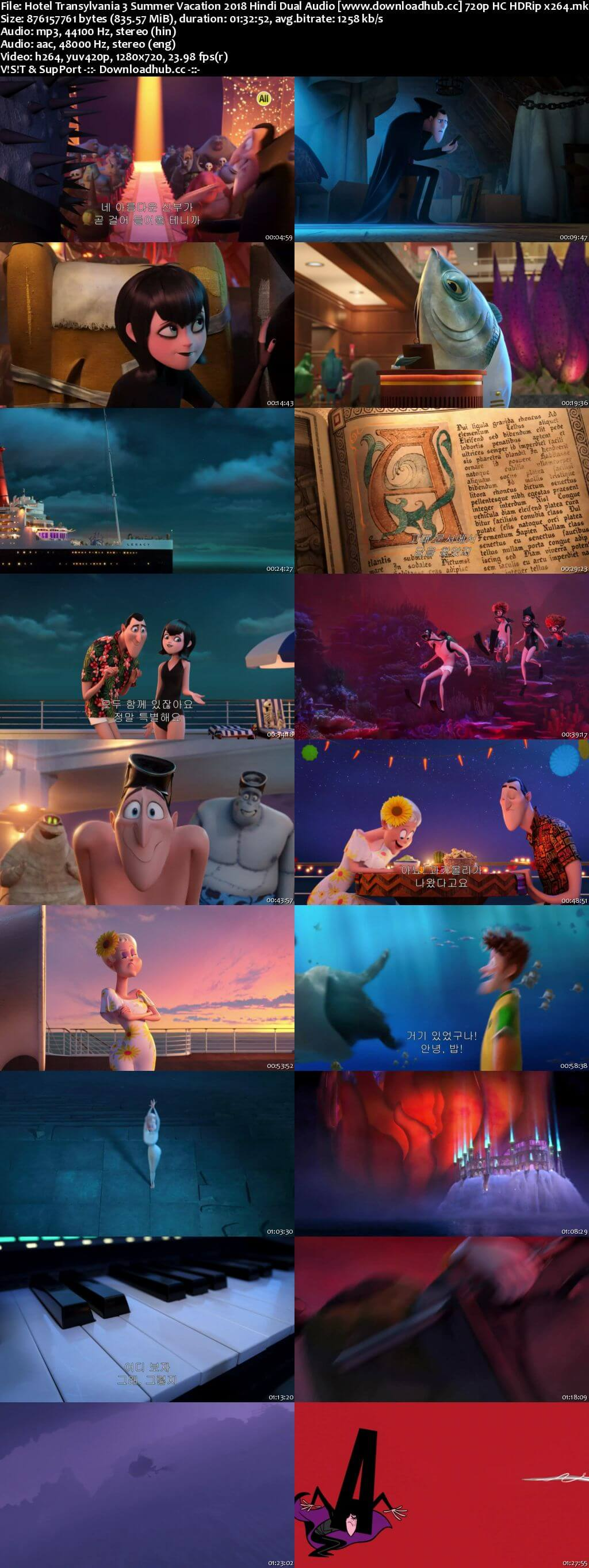Hotel Transylvania 3 Summer Vacation 2018 Hindi Dual Audio 720p HC HDRip x264