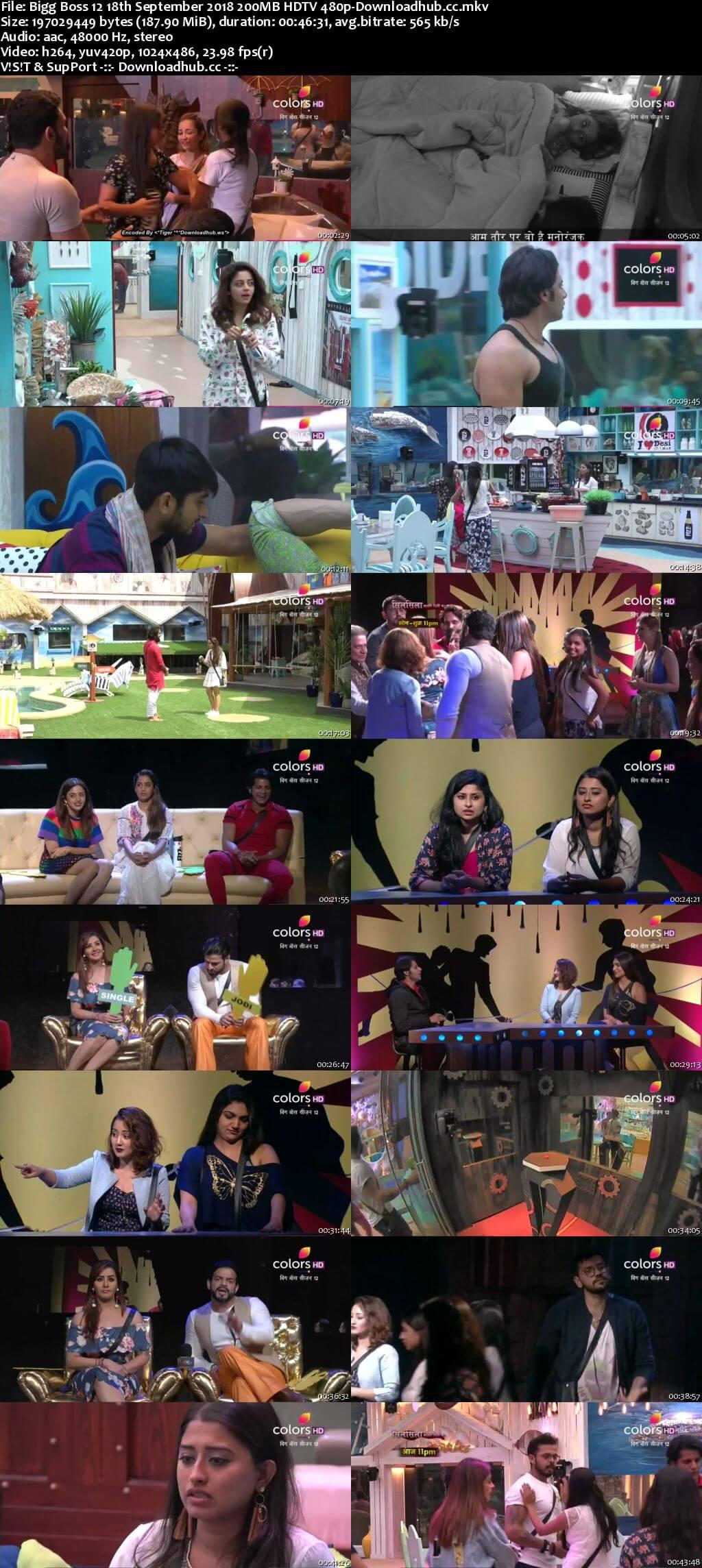 Bigg Boss 12 18 September 2018 Episode 02 HDTV 480p