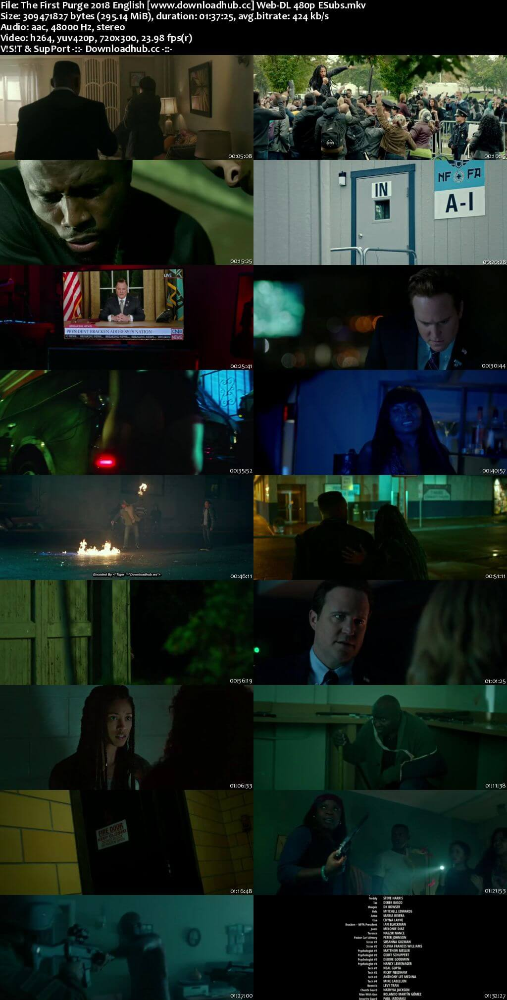 The First Purge 2018 English 300MB Web-DL 480p ESubs