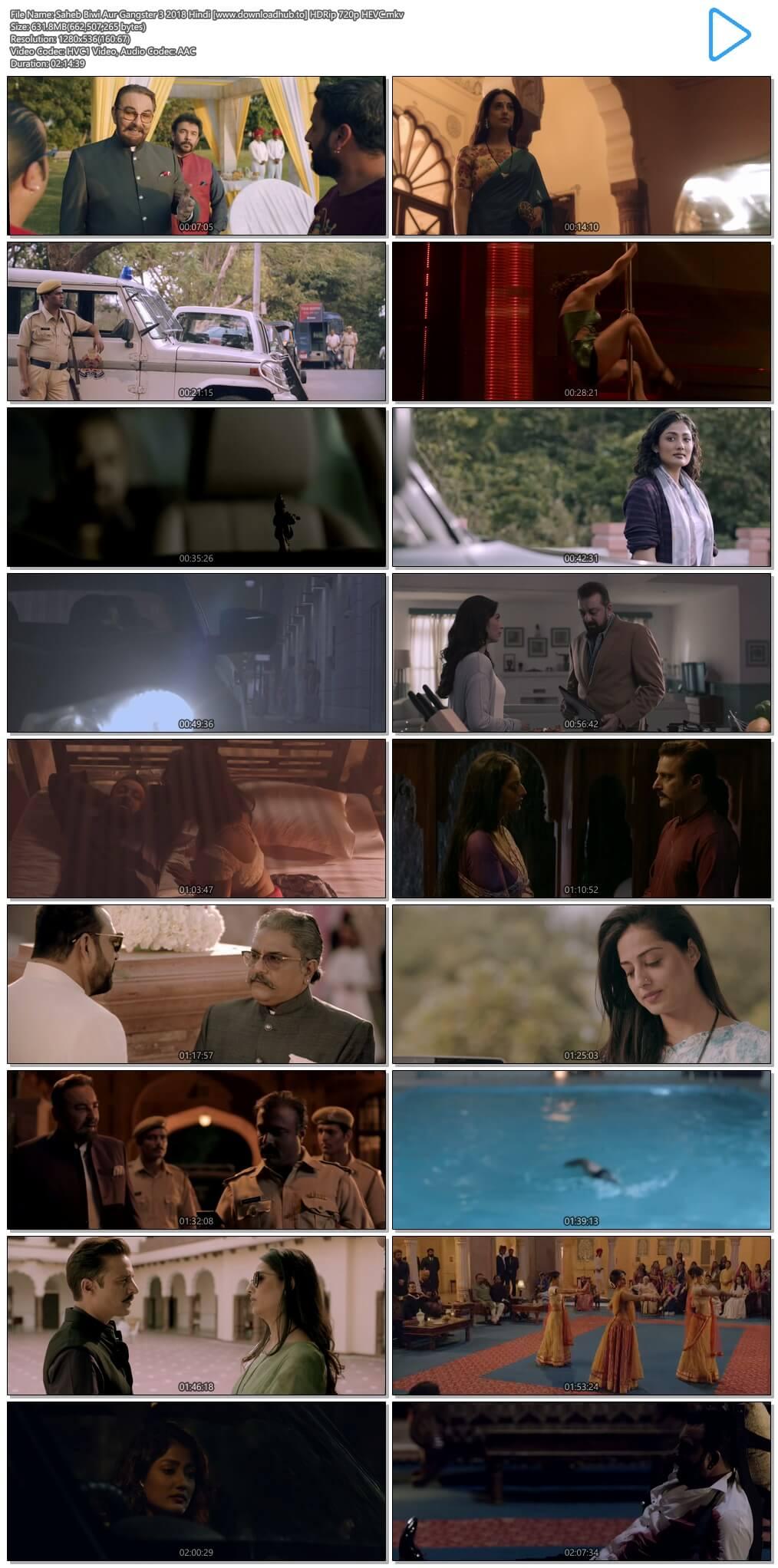 Saheb Biwi Aur Gangster 3 2018 Hindi 600MB HDRip 720p HEVC